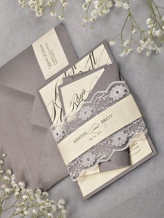 Contoh desain undangan pernikahan elegan