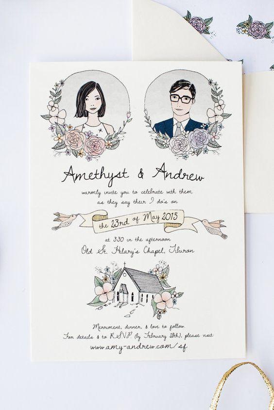 Undangan Pernikahan Vintage