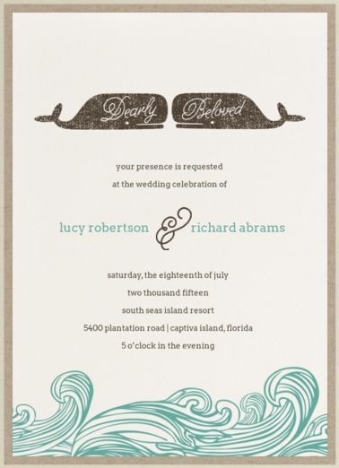 Undangan pernikahan vintage tema laut