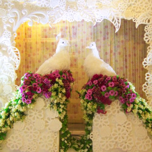 bleubell flowers decoration dekorasi lighting pernikahan