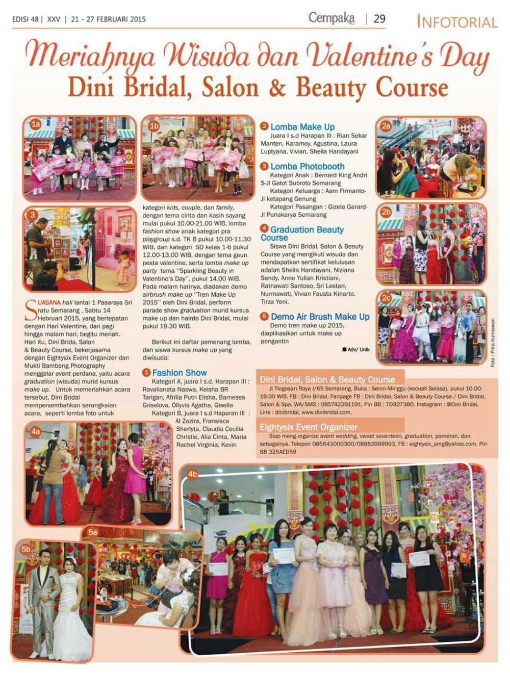 dini bridal salon beauty course bridal pernikahan