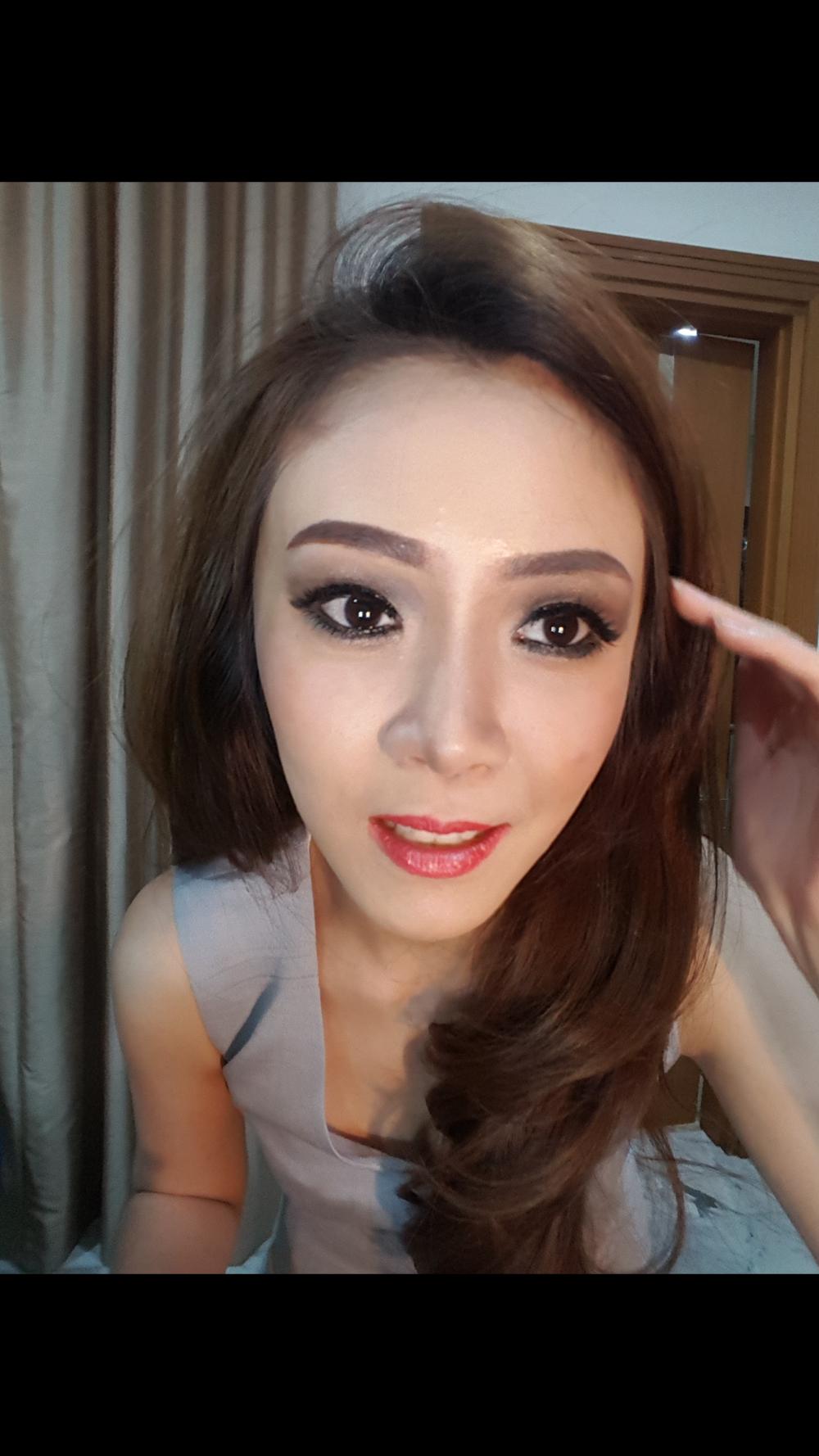evlyn natasha rias rambut makeup pernikahan