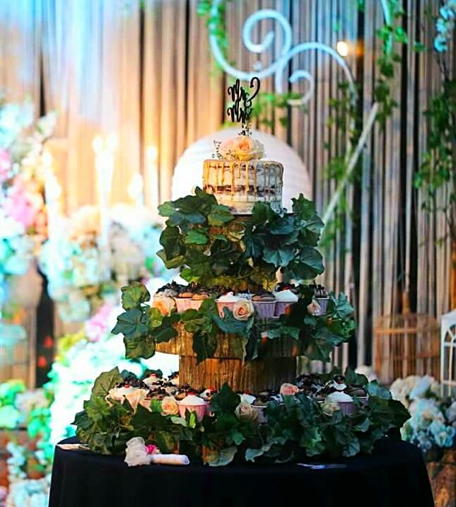 fleur bites cupcakery kue pernikahan