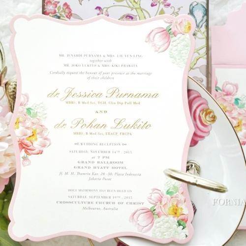 fornia design invitation undangan pernikahan