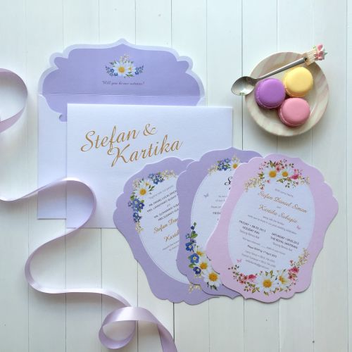 lovely card undangan pernikahan