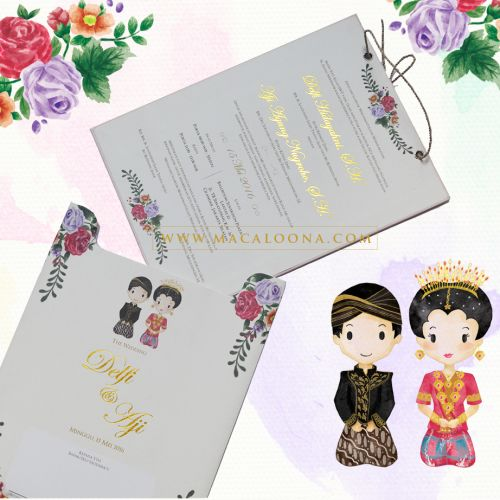 macaloona card undangan pernikahan