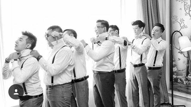 noeud papillon pakaian formal pria pernikahan