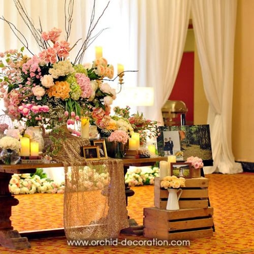 orchid florist and decoration dekorasi lighting pernikahan