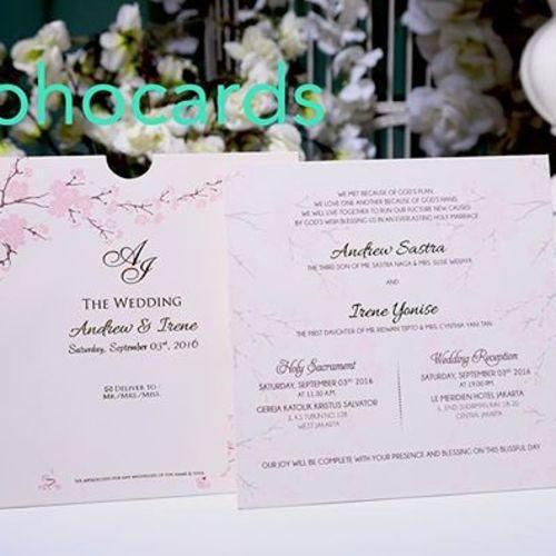 toho cards undangan pernikahan