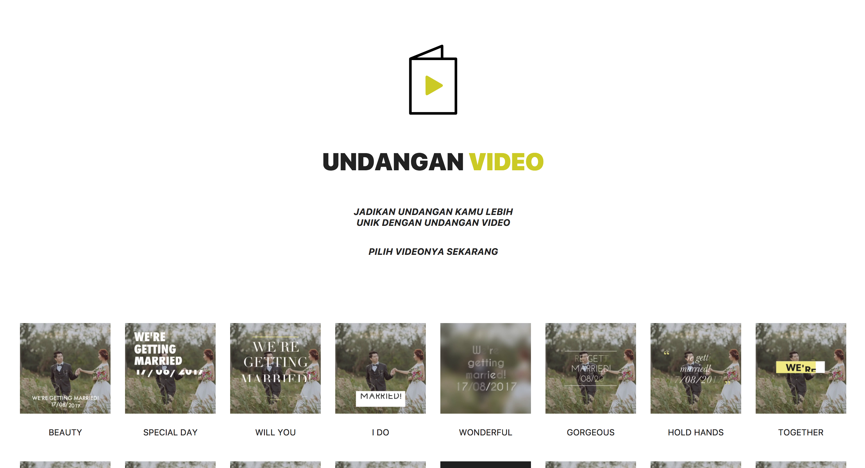 Video Undangan Pernikahan Online